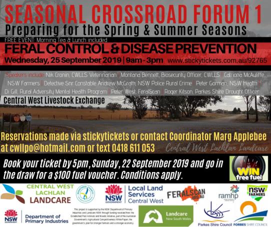 Seasonal Crossroad Forum - Feral Crontrol & Disease Prevention (25-9-2019)