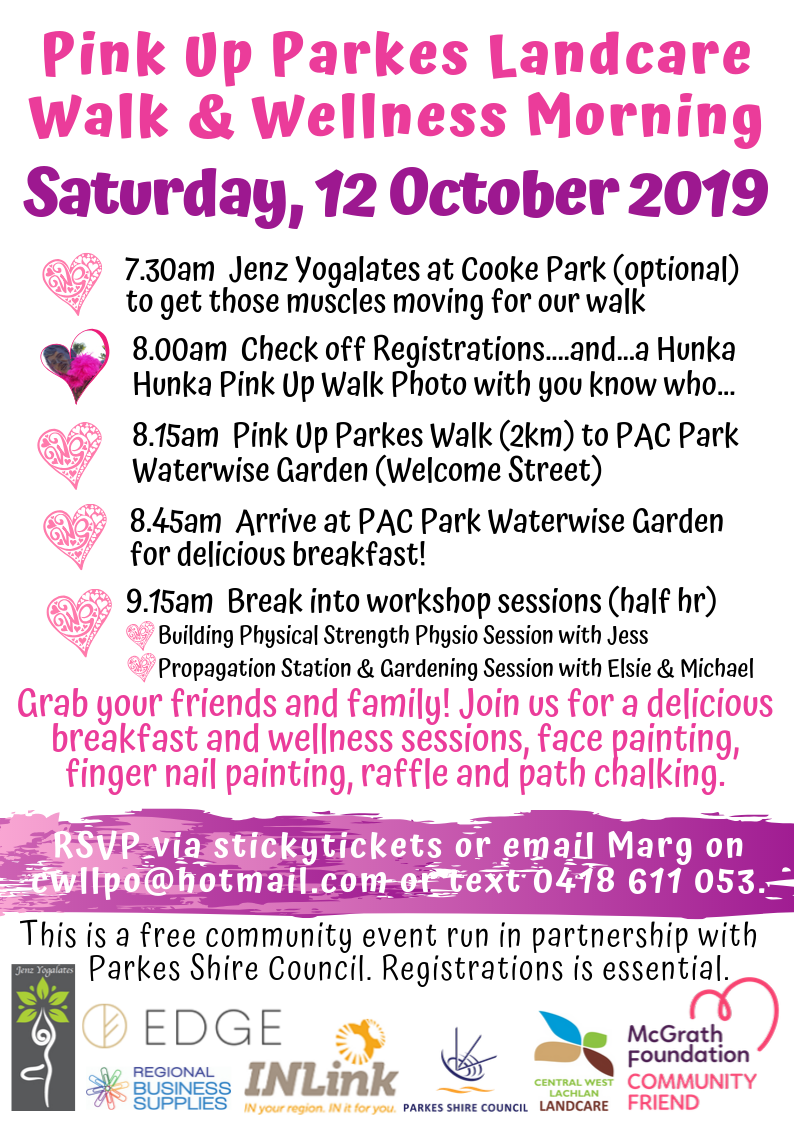 Pink Up Parkes Landcare Walk & Wellness Morning A4